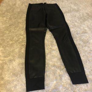 J. Crew Faux Leather Black Pants Sz 2